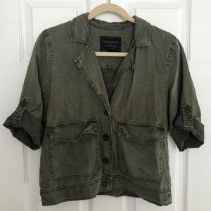 Lucky Brand Utility Short-Sleeve Jacket Womens  S
